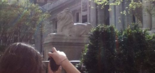 Caroline taking picture of the Met