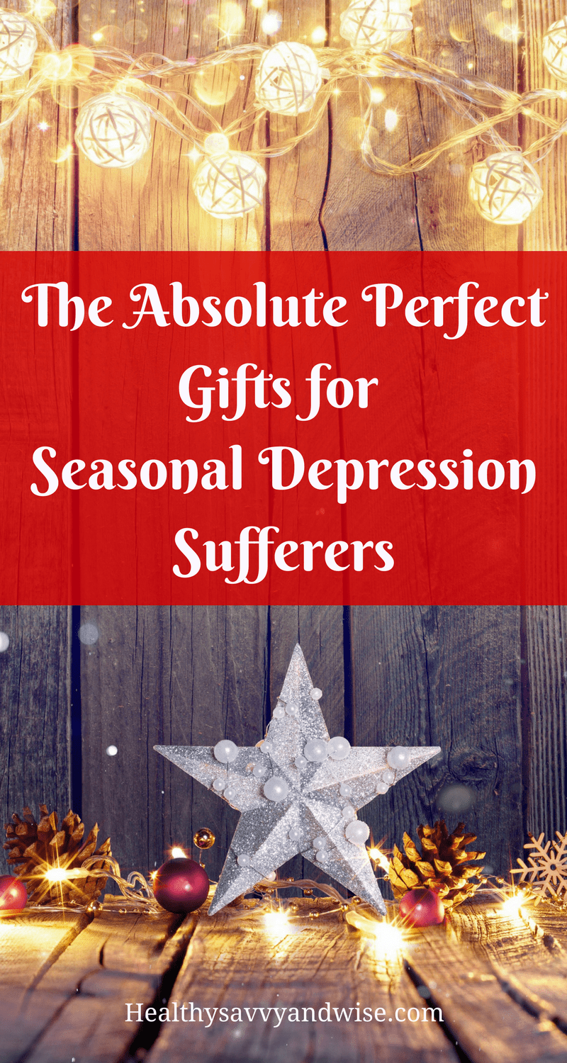 Perfect gift ideas for people who suffer from seasonal depression, SAD, or winter blues. These gifts will add to your self-care and wellness routine and give you a healthy boost. Depression   wellness   mental health   energy boost   holiday gifts.