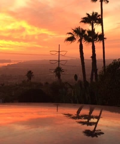 Fiery San Diego sunset: huge travel savings