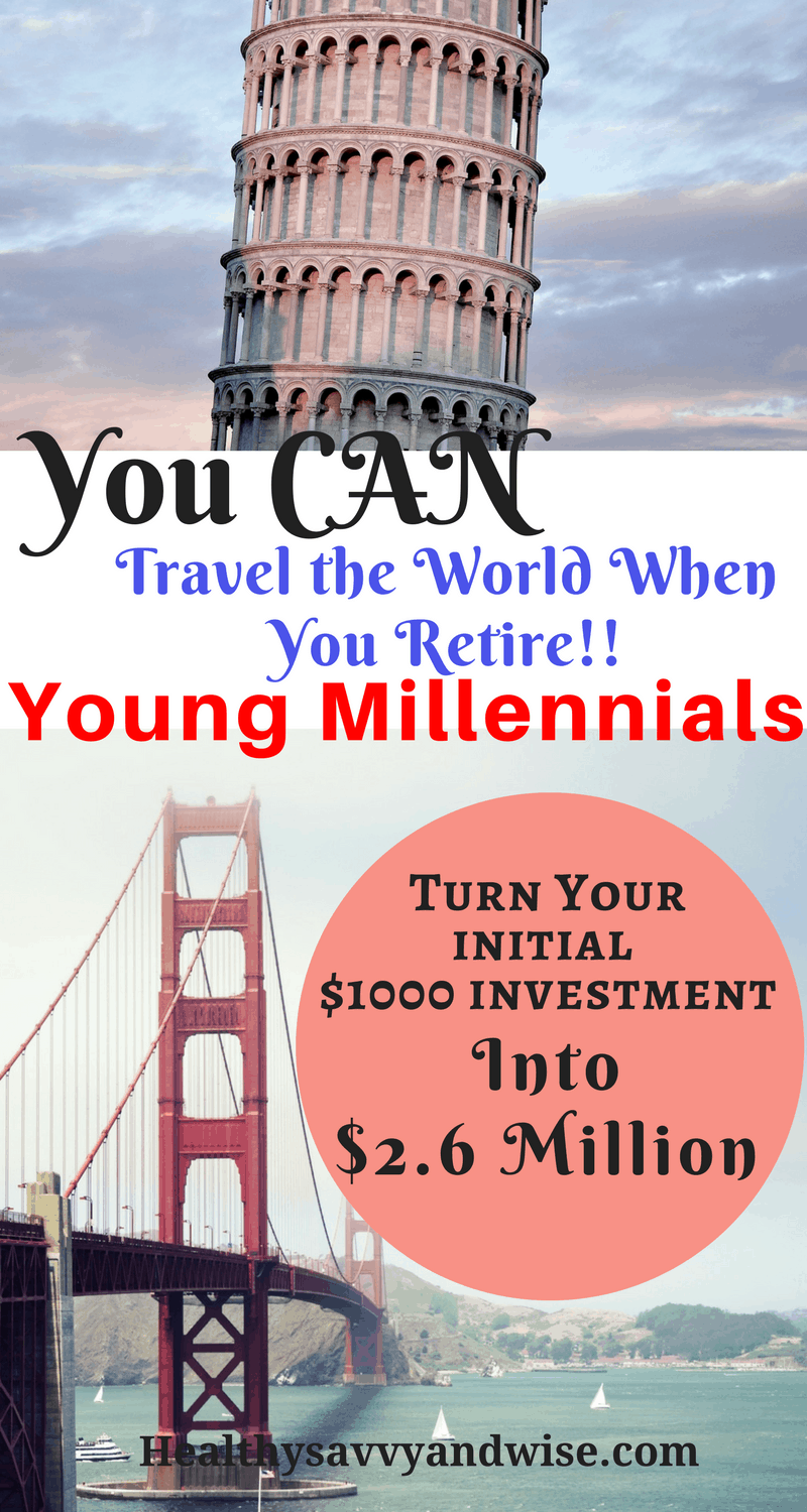 If you're a young Millennial or Generation Z, witness the magic of compound interest. You really can turn a $1000 investment into $2.6 million! We'll show you how to earn, save, and budget your way to a multi-million dollar retirement. 