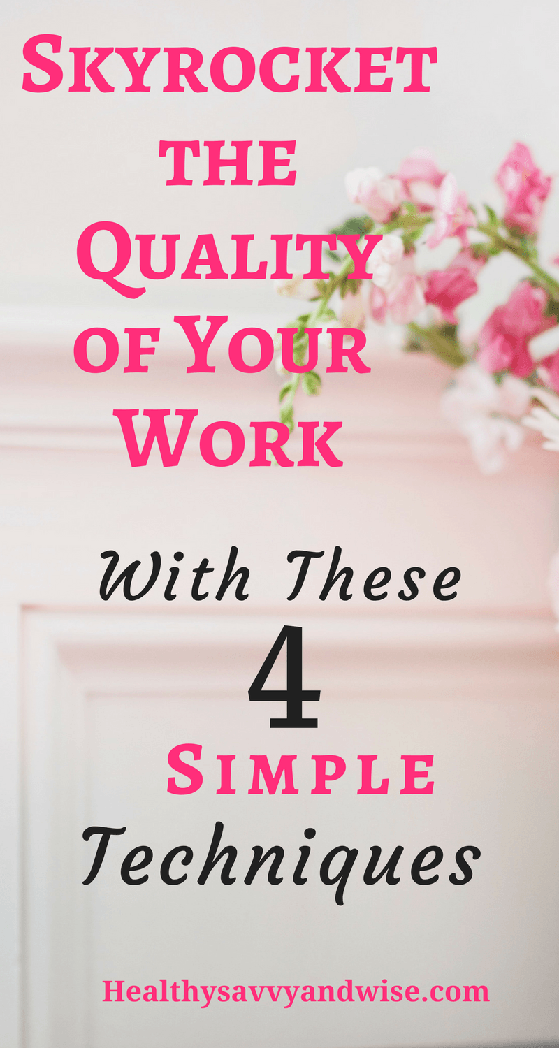 Master these four work productivity secrets, and watch the quality of your work skyrocket. Four great tips to help you combat distraction, find more time, concentrate, and work deeper--not longer. #productivity #timemanagement #qualitywork #betterconcentration