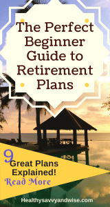 Retirement plans for beginners - graphic