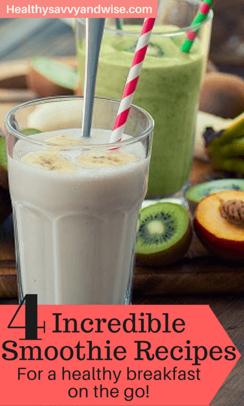 healthy easy breakfast smoothies - Pinterest graphic