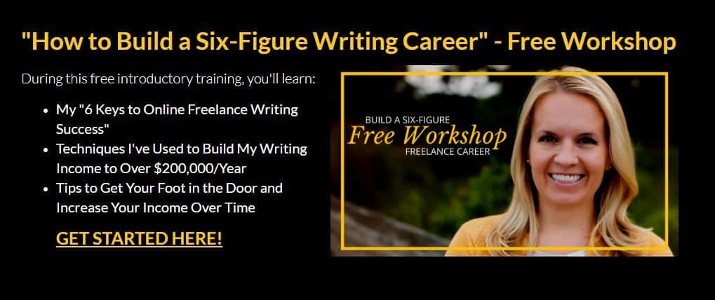 Earn more writing course image