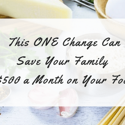 Do This One Thing to Save Money on Food & Slash Your Monthly Food Budget