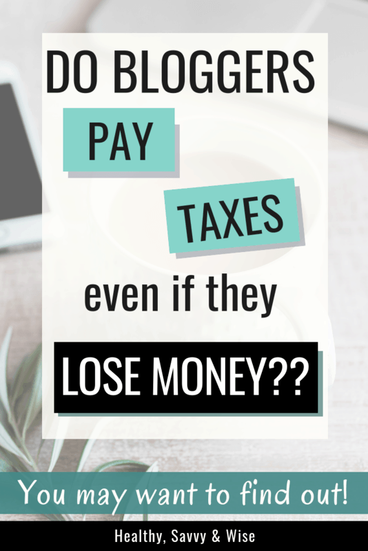 Self employment taxes and blogger taxes