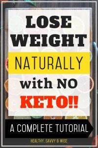 Pinterest graphic- weight loss routine that doesn't involve keto