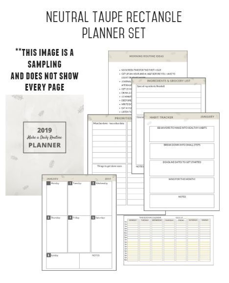 graphic of 2019 planner