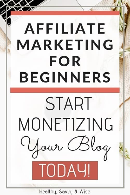 Pinterest graphic - how to start affiliate marketing