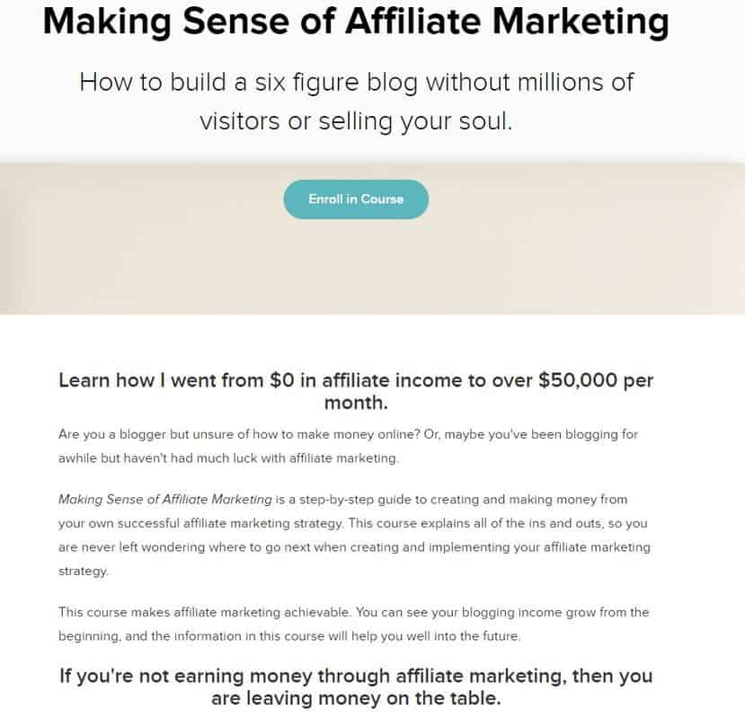 how to start affiliate marketing- image of making sense of affiliate marketing course