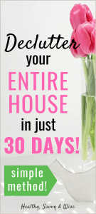 Declutter house in 30 days - graphic