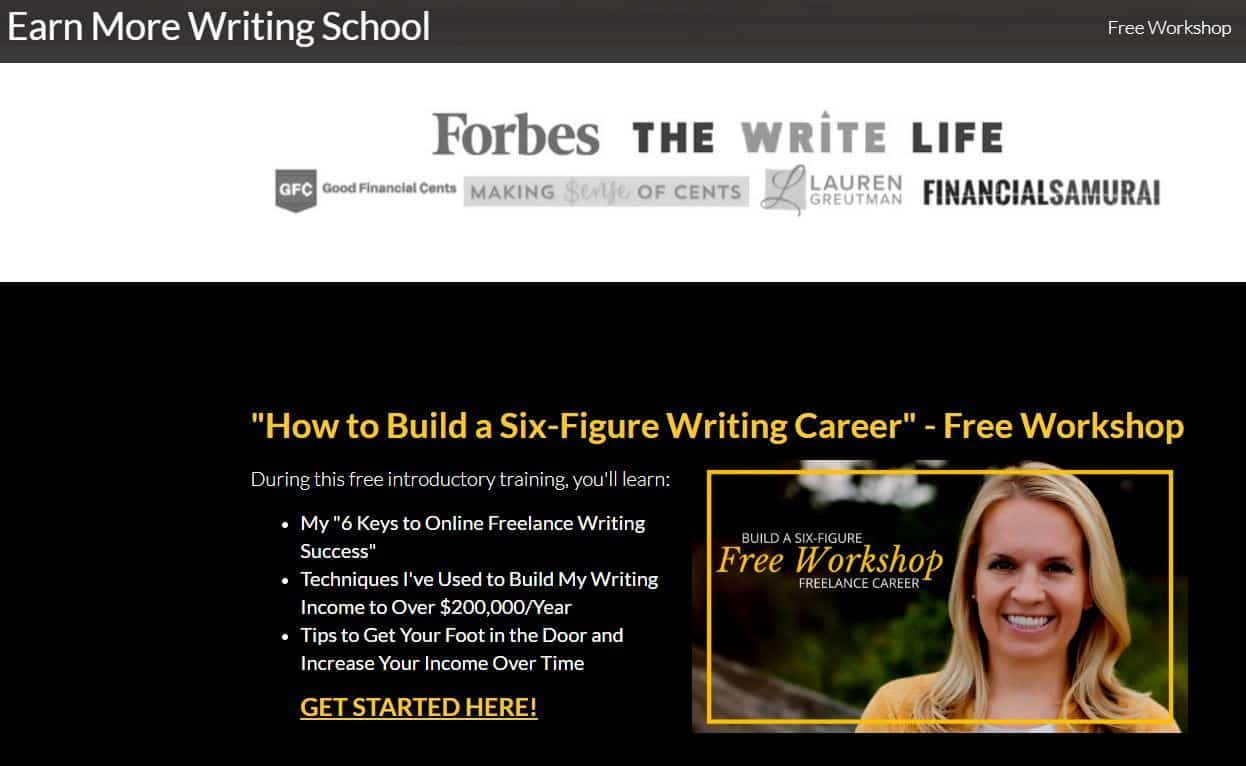 Freelance writing course graphic - earn more writing