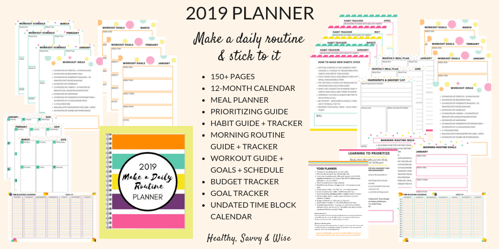 Make a daily routine planner graphic