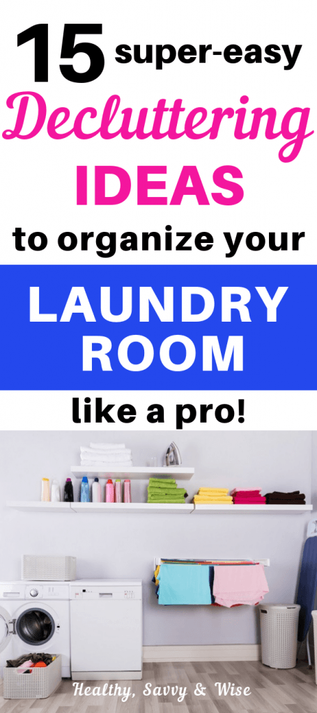 laundry room organizing graphic