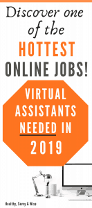 Virtual assistant jobs from home graphic