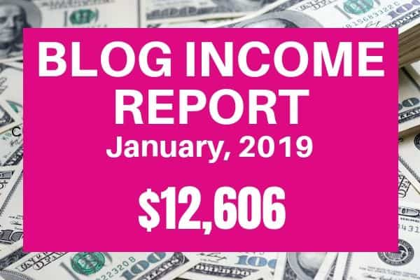 blog income report for January 2019