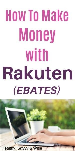 Saving money with Rakuten and Ebates