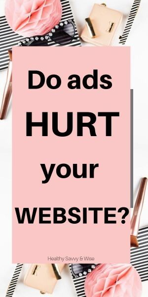 Do ads hurt your blog
