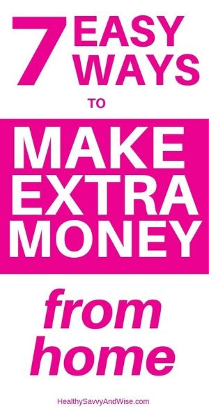 easy ways to make extra money from home